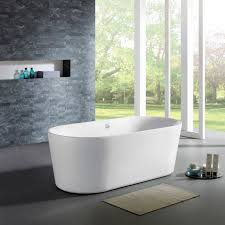 Maykke 59-inch Dewey White Freestanding Tub - Free Shipping Today -  Overstock.com - 21191994