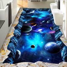 wellyu <b>Custom floor painting 3d</b> photo decoration painting cosmic ...