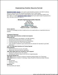 A Professional Resume Format Resume Formats For Experienced Free