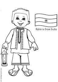 Kleurplaat Rohin Met Indische Vlag Afb 5649