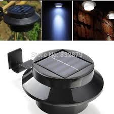 2018 black super bright yard lamp solar panel garden light 3 led lights outdoor home decor