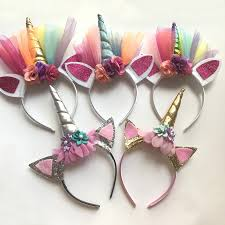 fashion glitter unicorn horns headbands for girls and kids 2017 felt padded unicorn headband hair accessories diy unicorn party hair accessories for las