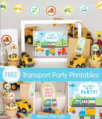 Birthday Invitations Printable Free Transport Invitations Printables
