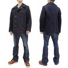 Usn Pea Coat Size Chart Buzz Rickson Pea Coat Mens U S Navy Wool Peacoat Br11554 Double Breasted Coat