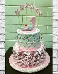 Creme Castle Order Son And Daughter First Birthday Cake Online Noida