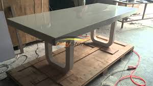 Corian Artificial Stone Solid Surface Dining Table For 8 Seats Corian Table Top