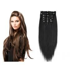 Clip In Vlasy 100 Lidské Vlasy K Prodloužení Remy černá Extra Dlouhé 65cm