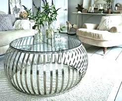 round drum coffee table silver drum coffee table round metal drum coffee table silver tables in