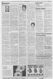 Work Activity Sample – Obituary Page From The Delavan (Wi ...