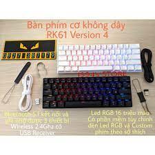 RK68 Plus/RK871 VERSION 4.0 HOTSWAP - Bàn phím cơ không dây - Bluetooth 5.1  - Wireless 2.4G - Type C - Phần mềm Macro