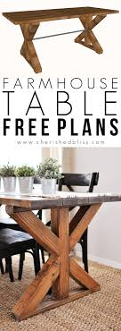 x base trestle farm table build plans cherished bliss