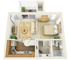 studio apartment furniture layout. A Floor Plan Of Studio Apartment Divided Into Multiple Rooms. Home Designing Furniture Layout O