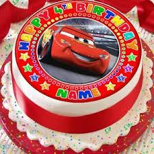 Cars Lightening Personalised Red Precut Edible Birthday Cake Topper
