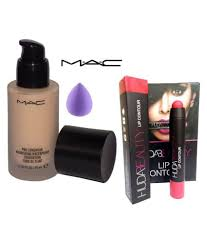 imported bo mac pro longwear foundation puff huda beauty lip contour makeup kit ml