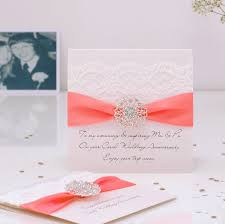 Opulence Coral Wedding Personalised Anniversary Card By Made With