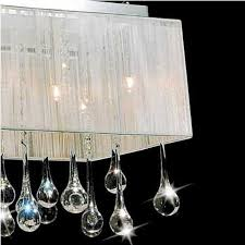 brizzo lighting s 40 gocce modern string shade crystal for contemporary property rectangular crystal chandelier with shade prepare