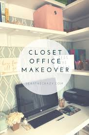 finished office makeover. The Husband\u0027s Version Of Closet Office Makeover. He Takes You Step By On Finished Makeover