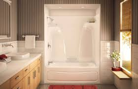 one piece tub and shower surround unique abigails tub bathroom remodel