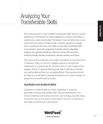 Resume Transferable Skills Examples Sarahepps Com