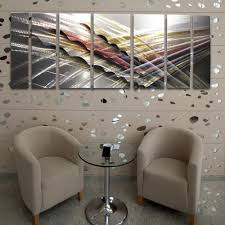 Metal Wall Decorations For Living Room Shock Wave 66x24 Large Modern Abstract Metal Wall Art Sculpture