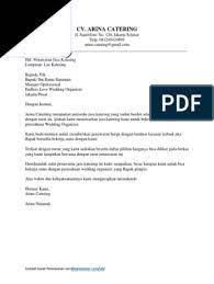 Contoh surat penawaran usaha catering : Contoh Surat Penawaran Jasa Katering