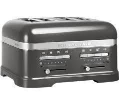 kitchenaid 5kmt4205bms artisan 4 slice toaster silver free delivery currys artisan toaster slice
