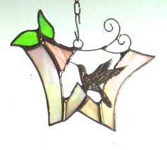 initial ornament with hummingbird any letter or color