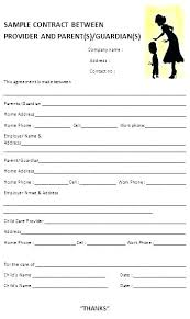 Daycare Contract Template Child Contract Template It Support Agreement Template Child