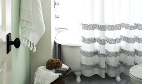 gray shower curtain shower curtain diys to revamp your bathroom gray chevron shower curtain target