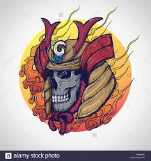 Samurai Warrior Design Samurai Warrior Skull Tattoo Design Vector Illustration