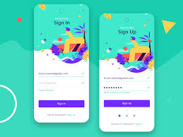 Insign Design App Sign In Sign Up Form By Vivien Friedrich On Dribbble