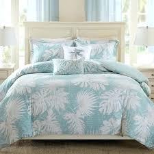 palm tree duvet cover blue green turquoise bedding sets queen
