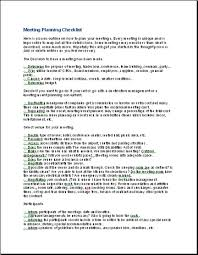 Meeting Planning Checklists Meeting Planning Checklist A4 Business Templates Executive Pa