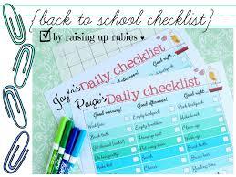 School Checklist Raising Up Rubies Blog Back To School Checklist Free Print