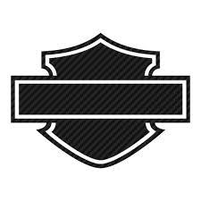 Sticker Karbon Harley Davidson Logo Silhouette