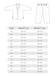 Size Guidekimono Brazilian Jiu Jitsu Mma Life Style
