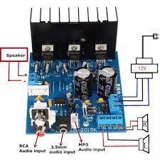 TEMPSA TDA2030 A Amplificateur 2.1 3 canaux Caisson de basses Planche  tda2030 Caisson de basses - Cdiscount TV Son Photo