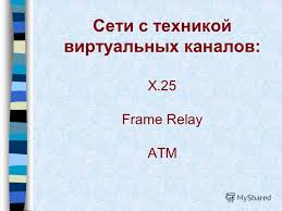 1 Сети с техникой виртуальных каналов x 25 frame relay atm