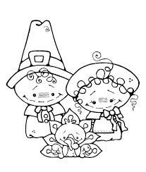 Pilgrim Girl Coloring Page Thanksgiving Sheets Pages And Free Boy