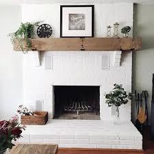refacing a brick fireplace f0dda1fdf037ac8edcdf4f9c71109131 painted brick fireplace wood mantel
