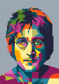 Lennon The Beatles Cross Stitch Pattern PDF Instant Download Mesmerizing Dnload Georgeous The Beatles