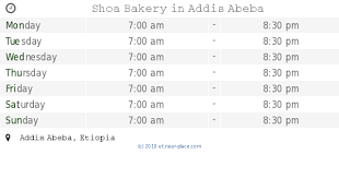 Shoa Bread Addis Ababa Opening Times Africa Avenue Contacts