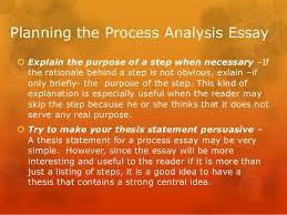 process analysis essay 8 planning the process analysis essay explain