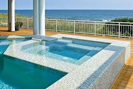 swimming pool glass tile design with plan 12