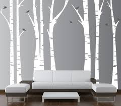 forest birch tree wall art on silver birch wall art stickers with forest birch tree wall art andrews living arts look fresh and