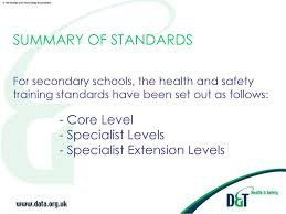 Health And Safety For Design Technology In Schools Health And Safety Training Standards In Design And