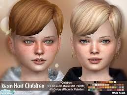 kean hair child by msqsims the sims