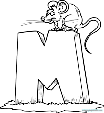 Unique M Coloring Pages Free Letter Printable Mm Cartoon Stock