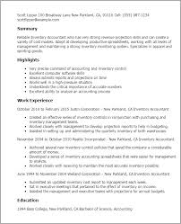Resume Templates: Inventory Accountant