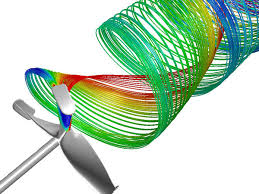 fluid dynamics. simulation of fluid dynamics by cfd e